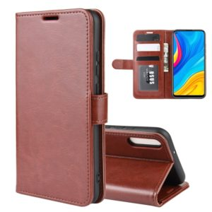 For Huawei Enjoy 10 R64 Texture Single Fold Horizontal Flip Leather Case with Holder & Card Slots & Wallet(Brown)