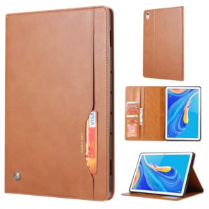 Knead Skin Texture Horizontal Flip Leather Case for Huawei MediaPad M6 8.4 2019, with Photo Frame & Holder & Card Slots & Wallet(Brown)
