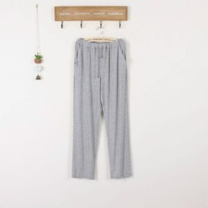 Couple Casual Home Spring and Autumn Cotton Loose Thin Stretch Sports Morning Pants, Size:XL(Male Light Grey)
