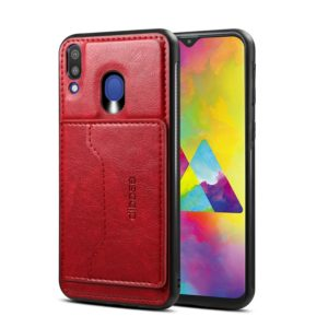 Dibase Crazy Horse Texture PU Leather Case for Galaxy M20, with Holder & Card Slot (Red) (dibase)