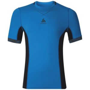 Odlo Ceramicool Pro Shirt SS Crew Neck / Blue Jewel - Black / Men