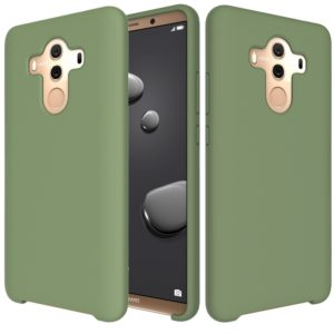Solid Color Liquid Silicone Dropproof Protective Case for Huawei Mate 10 Pro(Green)