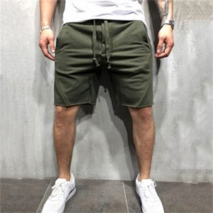 Men Solid Pocket Casual Summer Jogging Half Length Shorts Basketball Shorts, Size: L(Green)