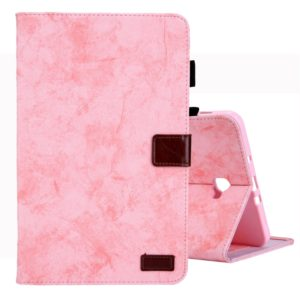 For Galaxy Tab A 10.1 (2016) / T580 Business Style Horizontal Flip Leather Case, with Holder & Card Slot & Photo Frame & Sleep / Wake-up Function(Pink)