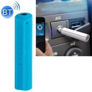 Portable Stereo Bluetooth Adapter Mini Portable Bluetooth 4.2 Wireless Bluetooth Music Receiver with 3.5mm Hands-free Stereo Audio Adapter for Car Home Use(Blue)