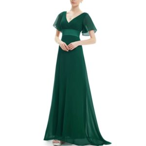 Evening Dresses Padded Trailing Flutter Summer Style Dresses, Size:XL(Dark Green)