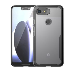 Transparent PC + TPU Full Coverage Shockproof Protective Case for Google Pixel 3 (Black)