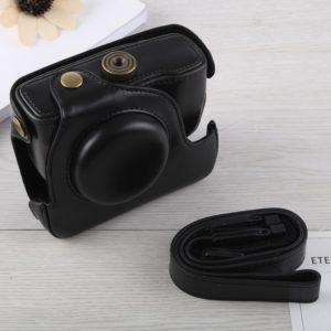 Full Body Camera PU Leather Case Bag with Strap for Canon G16 (Black)