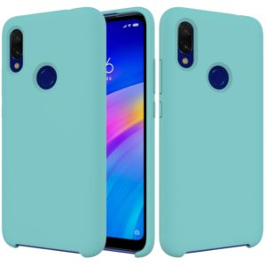 Solid Color Liquid Silicone Shockproof Full Coverage Case for Xiaomi Redmi 7(Blue)