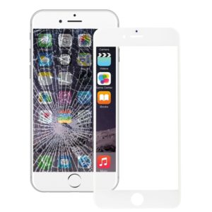 Front Screen Outer Glass Lens with Front LCD Screen Bezel Frame & OCA Optically Clear Adhesive for iPhone 6 Plus(White)