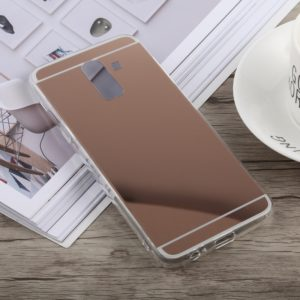Acrylic + TPU Electroplating Mirror Case for Galaxy J8 (2018) (Rose Gold)