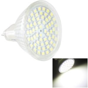 MR16 4.5W LED Spotlight Lamp Bulb, 60 LED 3528 SMD, White Light, AC 220V