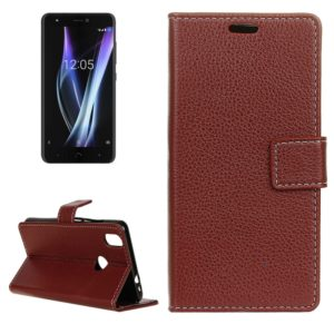 For BQ Aquaris X Pro Litchi Texture Horizontal Flip Leather Case with Holder & Card Slots & Wallet & Photo Frame(Brown)