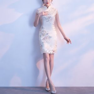 Oriental Evening Dress Chinese Style Women Elegant Qipao Sexy Wedding Party Cheongsam, Size:XXXL, Style:Hip skirt