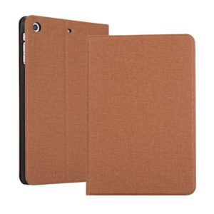 Universal Voltage Craft Cloth TPU Protective Case for iPad Mini 1 / 2 / 3, with Holder (Brown)