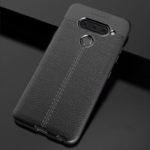 Litchi Texture TPU Shockproof Case for LG V40 ThinQ(Black)