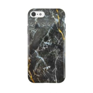UUNIQUE ECO MARBLE PRINTED CASE IPHONE 6 7 8 SE (2020) black gold backover