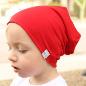 2 PCS Cute Solid Knitted Cotton Hat Beanies Autumn Winter Warm Earmuff Colorful Crown Caps For Newborn Baby Children(Red)