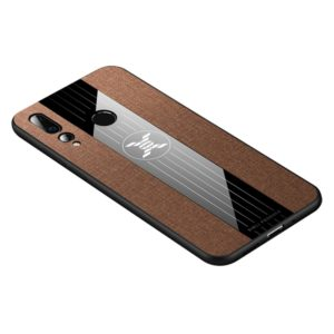 For Huawei nova 4 XINLI Stitching Cloth Textue Shockproof TPU Protective Case(Brown) (XINLI)