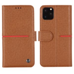 For iPhone 11 Pro GEBEI Top-grain Leather Horizontal Flip Protective Case with Holder & Card Slots & Wallet & Photo Frame(Brown) (GEBEI)