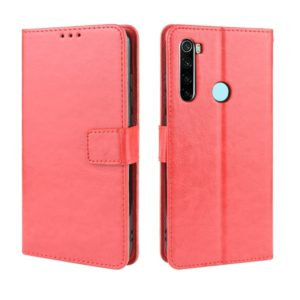 For Xiaomi Redmi Note 8T Retro Crazy Horse Texture Horizontal Flip Leather Case with Holder & Card Slots & Photo Frame(Red)