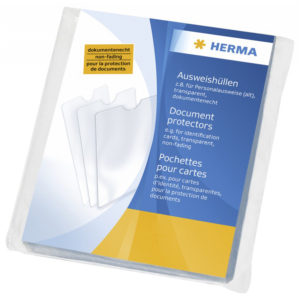 1x25 Herma Document Protectors 80x115 5016