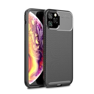 Carbon Fiber Texture Shockproof TPU Case for iPhone 11 Pro(Black)