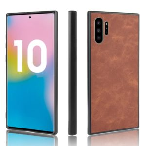 Shockproof Sheep Skin PC + PU + TPU Case For Galaxy Note10+(Brown)