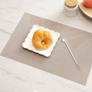 6PCS Creative Environmentally Friendly Simple Table Mats Coffee Cup Pad, Size: 30x45cm(Beige)