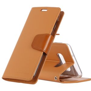 GOOSPERY SONATA DIARY Horizontal Flip Leather Case for Galaxy S10e, with Holder & Card Slots & Wallet(Orange) (GOOSPERY)