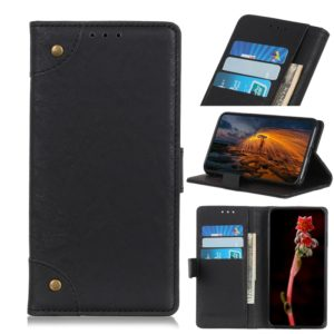 Copper Buckle Retro Texture Horizontal Flip Leather Case with Holder & Card Slots & Wallet for ZTE L8-A3 2019(Black)