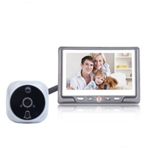 4.3 inch LCD Door Camera Recordable Digital Peephole Video Recording Motion Detect Door Eye Doorbell Video(Silver)