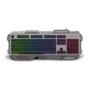 Zeroground Aluminum RGB Keyboard KB-2300G SAGARA, Grey