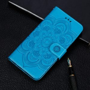 Mandala Embossing Pattern Horizontal Flip Leather Case for Galaxy A9 (2018) / A9 Star Pro (2018) / A9S & A9 PRO(2018) / A9200, with Holder & Card Slots & Wallet & Photo Frame & Lanyard(Blue)
