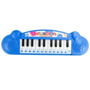 Cute Mini 21 key Early Education Electronic Keyboard Children Music Toys(Blue)