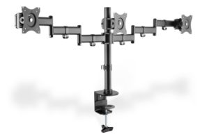 DIGITUS Triple monitor stand with clamp attachment, (DA-90362)