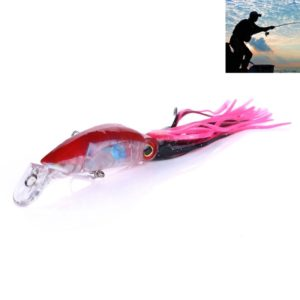 HENGJIA JIZ002 10cm/16.6g Big Octopus Squid Shaped Hard Baits Long Shot Fishing Lures Tackle Baits Fit Sea Fishing and Freshwater Fishing (F) (HENGJIA)