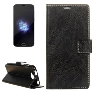 For Doogee X9 Mini Retro Crazy Horse Texture Horizontal Flip Leather Case with Holder & Card Slots & Wallet & Photo Frame(Black)