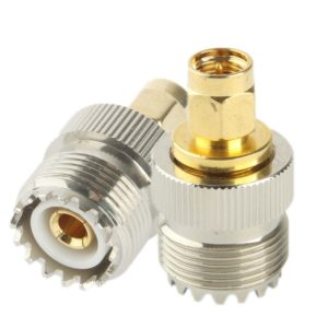 Coaxial RF SMA-J to SL-16 / SMA Male to M (UHF) Adapter(Silver)