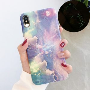 Luminous Pattern PC Protective Case for iPhone XS / X