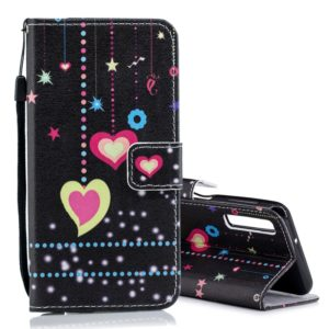 Colored Heart Pattern Horizontal Flip Leather Case for Galaxy A7 (2018), with Holder & Card Slots & Wallet