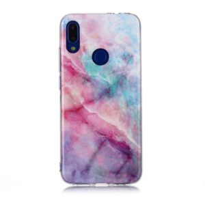 For Xiaomi Redmi Note 7 Coloured Drawing Pattern IMD Workmanship Soft TPU Protective Case(Pink Sky)