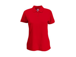 Fruit of the Loom Γυναικεία Πόλο Μπλούζα με κουμπιά Lady-Fit 65/35 Polo, Red No 40, 63-212-0 - Fruit of the Loom