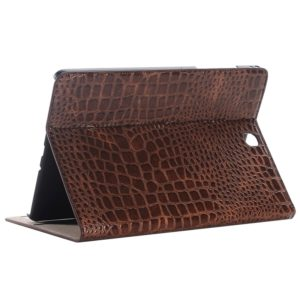 Crocodile Texture Horizontal Flip Leather Case with Holder & Card Slots & Wallet for Galaxy Tab A 9.7 / T550 / T555 / P550 /P555(Brown)
