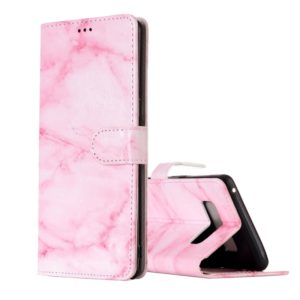For Galaxy Note 8 Pink Marble Pattern Horizontal Flip Leather Case with Holder & Card Slots & Wallet