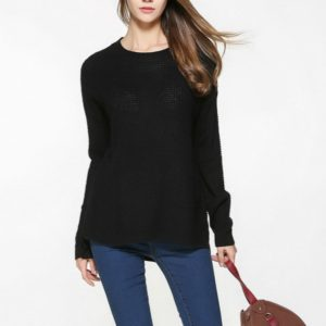 Loose Turtleneck Thin Sweater, Size: XXL(Black)