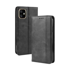 Magnetic Buckle Retro Crazy Horse Texture Horizontal Flip Leather Case for Apple iPhone 11 Pro Max , with Holder & Card Slots & Photo Frame(Black)