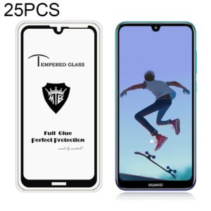 25 PCS MIETUBL Full Screen Full Glue Anti-fingerprint Tempered Glass Film for Huawei Y7 Prime (2019) (Black) (mietubl)
