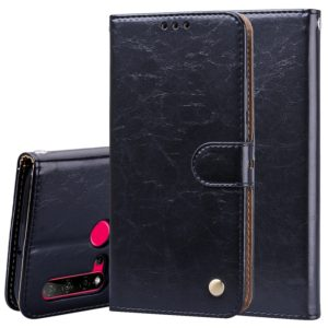 For Huawei P20 Lite (2019) / Nova 5i Business Style Oil Wax Texture Horizontal Flip Leather Case with Holder & Card Slots & Wallet(Black)