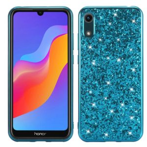 Glitter Powder Shockproof TPU Case for Huawei Honor Play 8A (Blue)